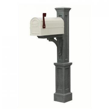 Mayne Newport Plus Mailbox Post (Granite) mailbox post