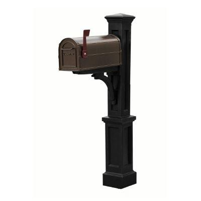 Mayne Newport Black Mailbox Post