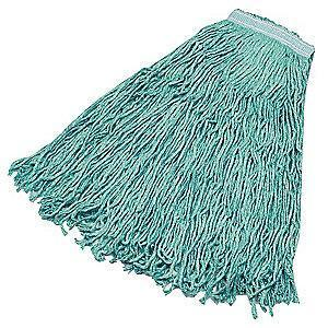 Rubbermaid FGF13200GR00 Synthetic Blend Cut End Wet Mop, 6 PK