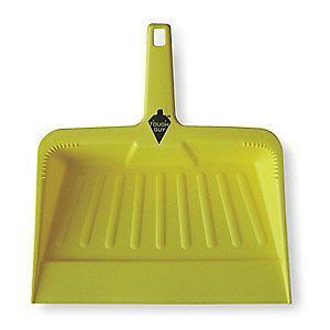 "Tough Guy 2VEY4 Plastic Hand Held Dust Pan, Length 12"", Width 12"""