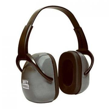 Safety Works Ear Muffs, Adjustable, Foldable
