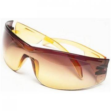 Safety Works Yellow Jacket Amber Lens Safety Glasses