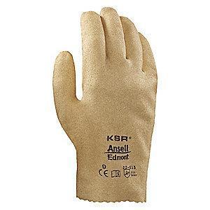 Ansell Rough Coated Gloves, XL, Yellowish Brown