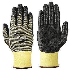 Ansell Nitrile Cut Resistant Gloves, Kevlar  Lining, Yellow/Black, XL, PR 1