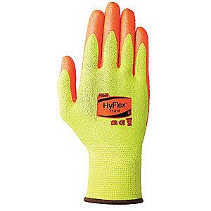 Ansell Nitrile Cut Resistant Gloves, Yellow Dupont, Kevlar  Lining, Yellow