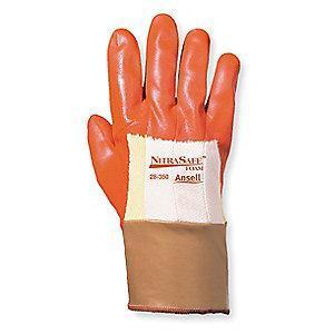 Ansell Nitrile Cut Resistant Gloves, Kevlar  Lining, Orange/Gold, L, PR 1