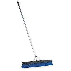 "Tough Guy Plastic Push Broom, Block Size 18"", Plastic Block Material"