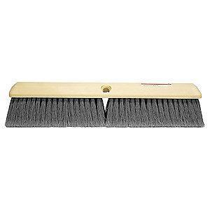 "Tough Guy Polystyrene Push Broom, Block Size 18"", Foam Block Material"