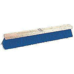 "Tough Guy Polypropylene Push Broom, Block Size 30"", Hardwood Block Material"