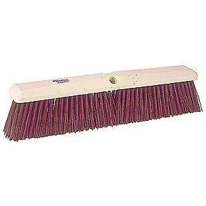 "Tough Guy Synthetic Push Broom, Block Size 24"", Foam Block Material"