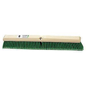"Tough Guy Flagged Synthetic Push Broom, Block Size 36"", Hardwood Block Material"