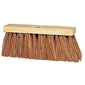 "Tough Guy Palmyra Push Broom, Block Size 16"", Hardwood Block Material"
