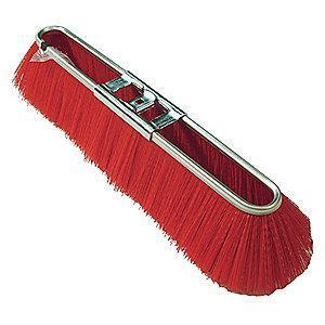 "Tough Guy Poly Push Broom, Block Size 17"", Steel Block Material"