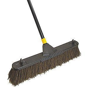 "Tough Guy Palmyra Push Broom, Block Size 24"", Resin Block Material"