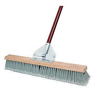 "Tough Guy Synthetic, Polypropylene Push Broom, Block Size 24"", Hardwood Block"