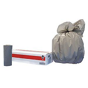 Tough Guy 56 gal. Extra Heavy Trash Bags, Gray, Coreless Roll of 100