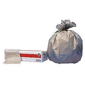 Tough Guy 33 gal. Extra Heavy Trash Bags, Silver, Flat Pack of 100