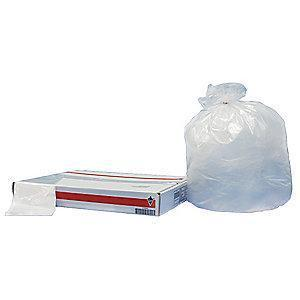 Tough Guy 65 gal. Extra Heavy Trash Bags, Clear, Flat Pack of 50