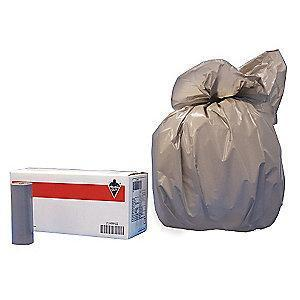Tough Guy 15 gal. Light Trash Bags, Gray, Coreless Roll of 500