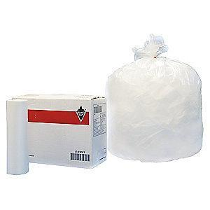 Tough Guy 30 gal. Medium Trash Bags, Clear, Coreless Roll of 250