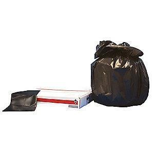 Tough Guy 30 gal. Extra Heavy Trash Bags, Black, Flat Pack of 125