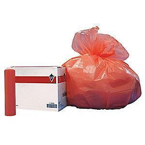 Tough Guy 45 gal. Extra Heavy Trash Bags, Orange, Coreless Roll of 100