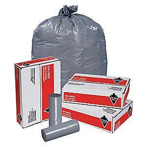 Tough Guy 60 gal. Super Heavy Trash Bags, Gray, Coreless Roll of 100
