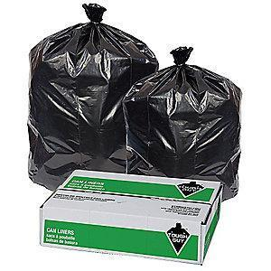 Tough Guy 32 gal. Super Heavy Trash Bags, Black, Coreless Roll of 50
