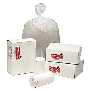 Tough Guy 13 gal. Heavy Trash Bags, White, Coreless Roll of 80
