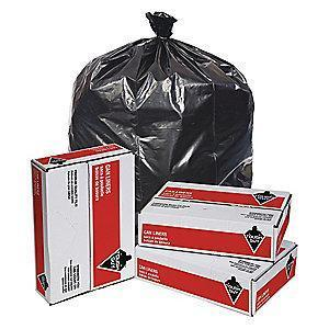 Tough Guy 50 gal. Super Heavy Trash Bags, Black, Flat Pack of 50