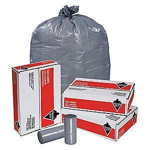 Tough Guy 33 gal. Super Heavy Trash Bags, Gray, Coreless Roll of 100