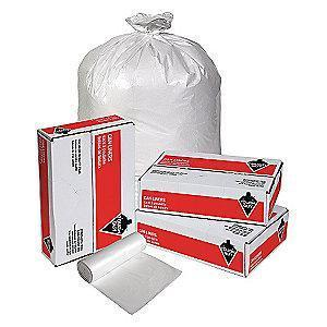 Tough Guy 60 gal. Extra Heavy Trash Bags, White, Coreless Roll of 100