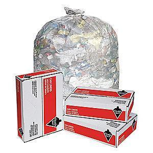 Tough Guy 65 to 95 gal. Super Heavy Trash Bags, Clear, Flat Pack of 50