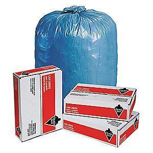 Tough Guy 65 to 95 gal. Super Heavy Trash Bags, Blue, Flat Pack of 50