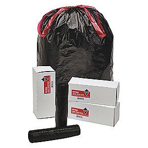 Tough Guy 30 gal. Extra Heavy Trash Bags, Black, Coreless Roll of 10