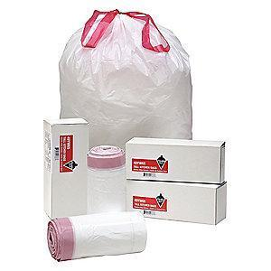 Tough Guy 13 gal. Extra Heavy Trash Bags, White, Coreless Roll of 40