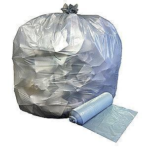 Ability One 45 gal. Heavy Trash Bags, Clear, Coreless Roll of 250