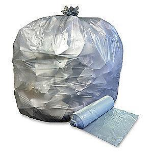 Ability One 45 gal. Medium Trash Bags, Clear, Coreless Roll of 250