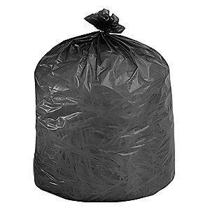 Ability One 35 gal. Super Heavy Trash Bags, Black, Flat Pack of 80