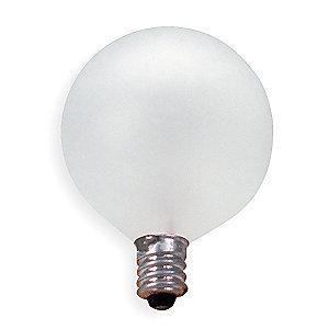 GE 25W Incandescent Lamp, G16.5, Candelabra Screw (E12), 210 lm, 2500K