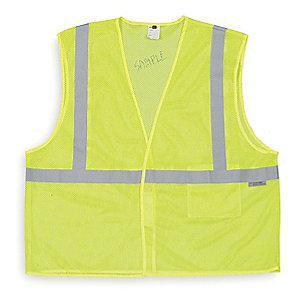 Condor Yellow/Green with Silver Stripe High Visibility Vest, ANSI 1, XL