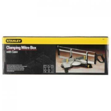 Stanley Contractor-Grade Clamping Mitre Box & Saw