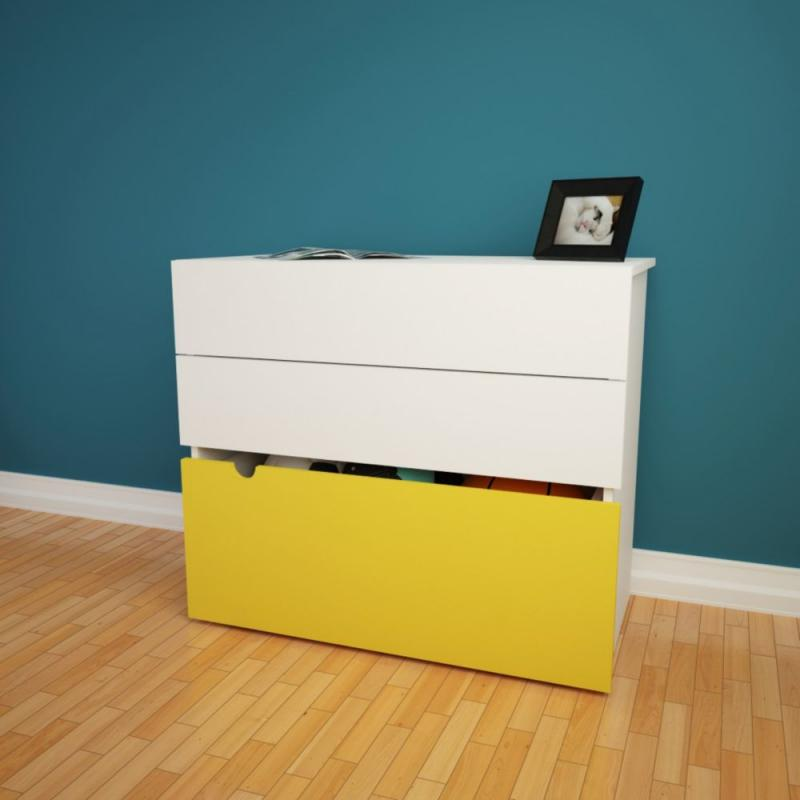 Nexera Taxi 2-Drawer Chest with Mobile Trunk