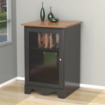 Nexera Pinnacle 1-Door Audio Tower  - Cherry and Black
