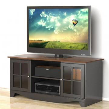 "Nexera Pinnacle 54"" HEC TV Stand - Cinnamon-Cherry & Black"