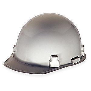 MSA Hard Hat, 4 pt. Ratchet Susp., White, Hat Size: 6-1/2 to 8