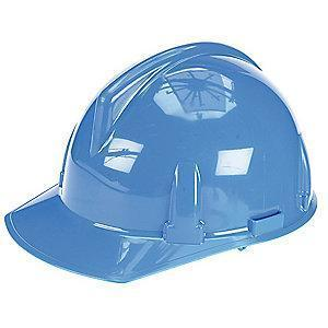 MSA Front Brim Hard Hat, 4 pt. Ratchet Susp., Blue, Hat Size: 6-1/2 to 8