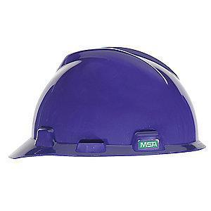 MSA Front Brim Hard Hat, 4 pt. Ratchet Susp., Purple, Hat Size: 6-1/2 to 8