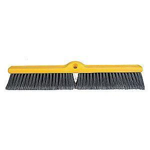 "Rubbermaid Polypropylene Push Broom, Block Size 24"", Plastic Foam Block Material"