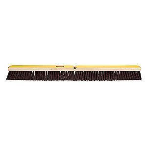 "Rubbermaid Polypropylene, Polystyrene Push Broom, Block Size 36"", Hardwood"